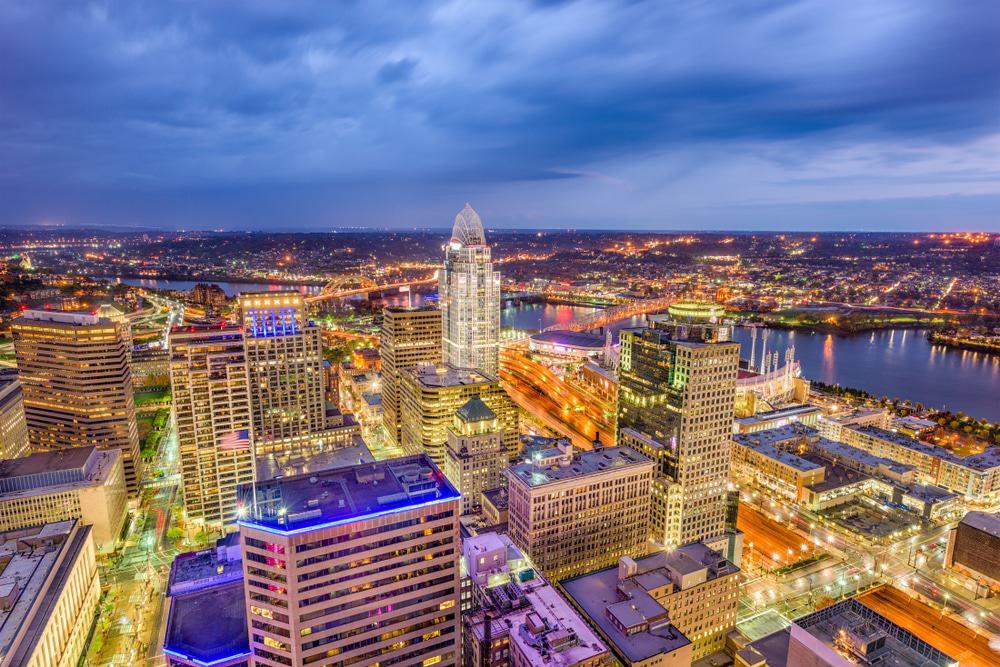 Cincinnati von oben