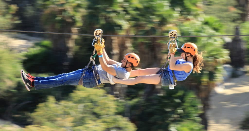 Seilrutsche im Wild Canyon