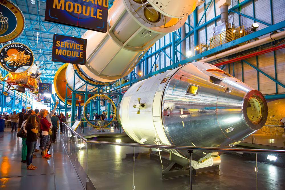 Das Befehlsmodul der Saturn 5-Rakete